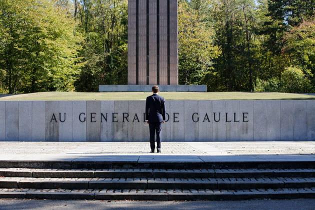 Emmanuel Macron, au mémorial Charles de Gaulle à Colombey-les-deux-églises