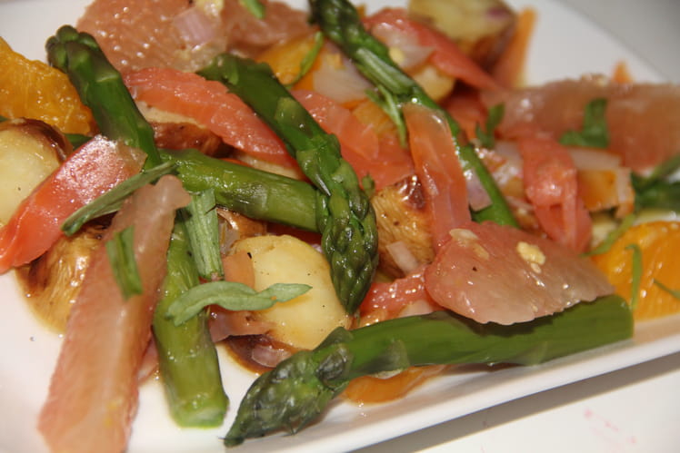 Salade de haddock et truite aux agrumes
