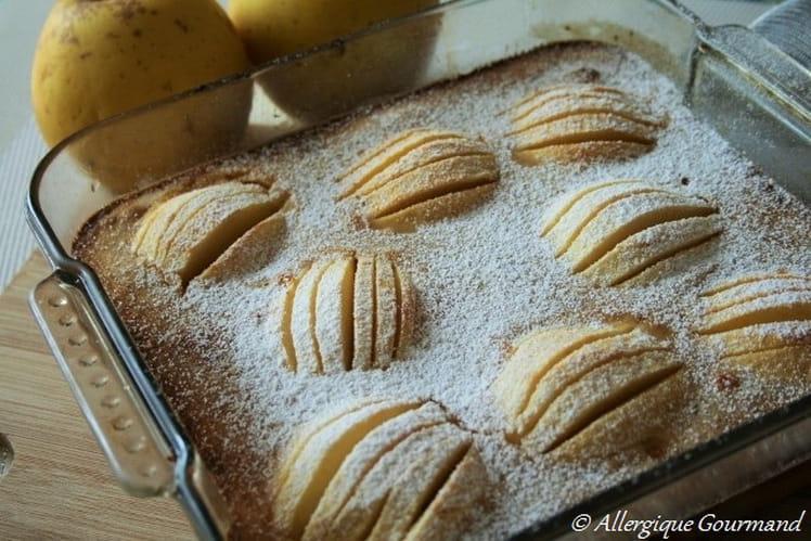 Clafoutis aux pommes bio, sans oeufs et sans gluten