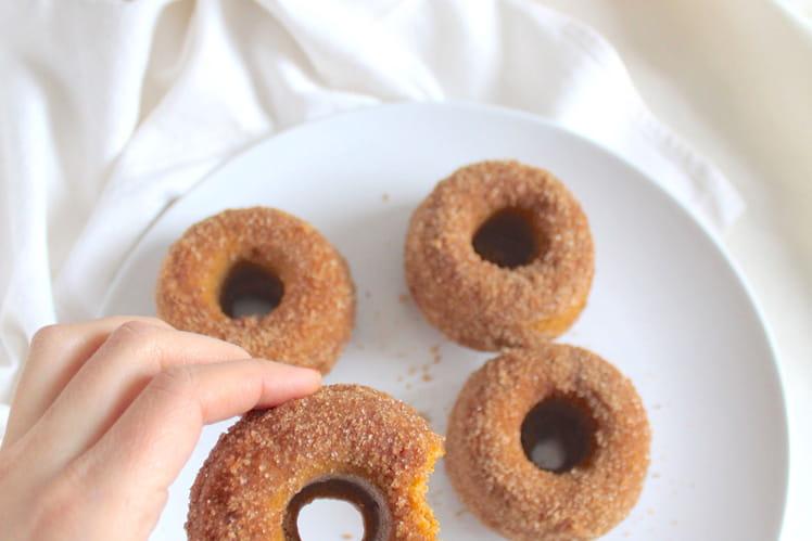Donuts potiron et cannelle cuits au four vegan