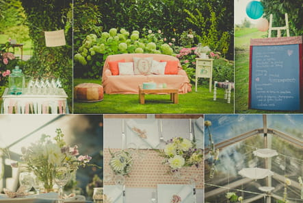 Un mariage rétro, romantique et champêtre, par Les Cocottes