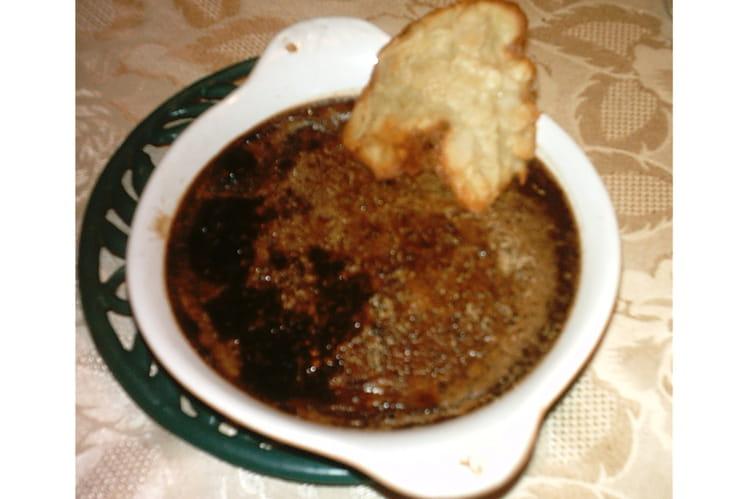 Crème brûlée au cacao en poudre