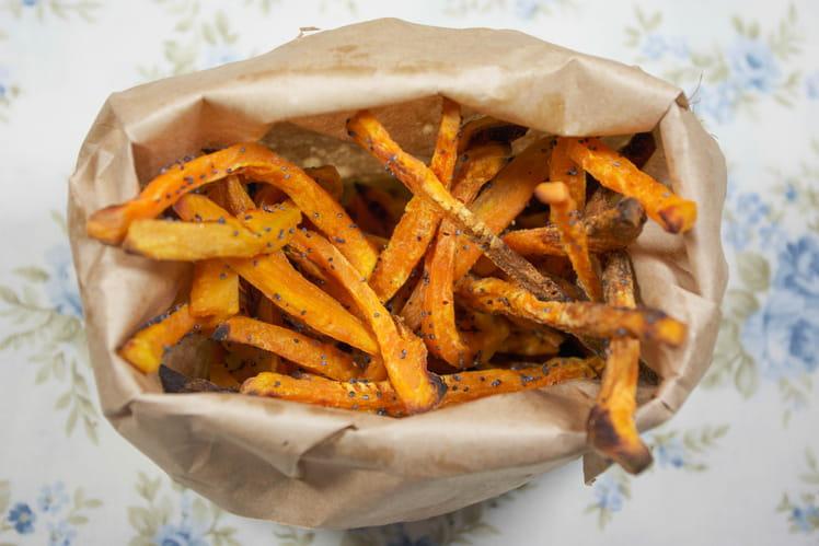 recette de frites de patates douces la recette facile. Black Bedroom Furniture Sets. Home Design Ideas