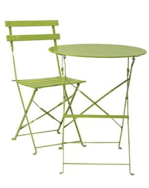 la table et la chaise 'bistro' de casa