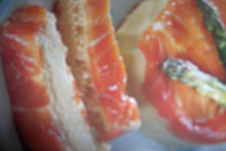 Mousse d'asperge au saumon fumé toute simple