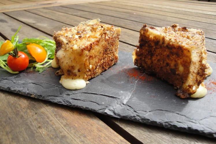 Camembert pané aux noisettes et noix