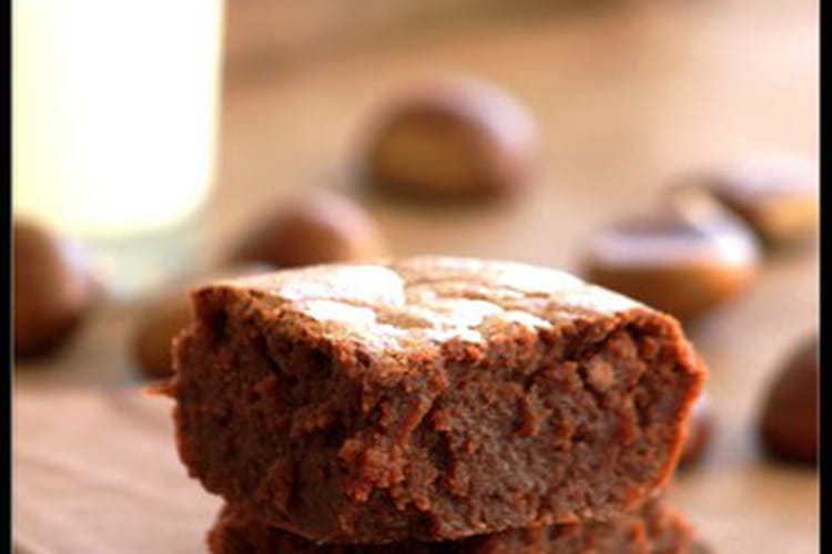 Fondant à la crème de marrons et chocolat