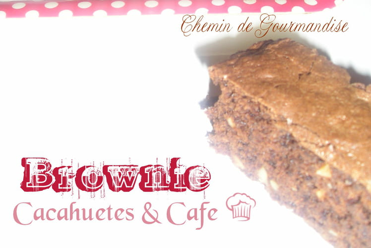 Brownie cacahuètes & café