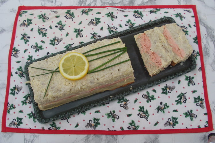 Terrine de poisson bicolore