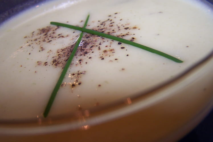 Crème glacée de courgette au parmesan