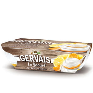 le yaourt sur lit d'agrumes de gervais