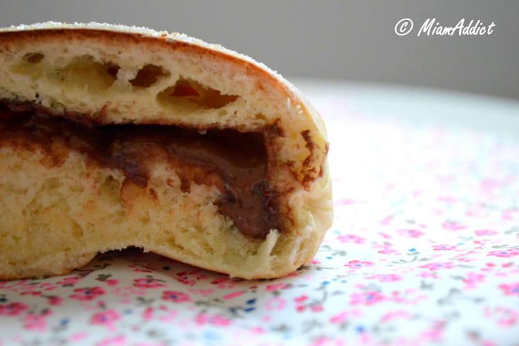 Beignets au four à la pâte à tartiner