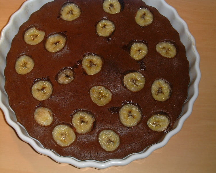recette de tarte chocolat banane express la recette facile. Black Bedroom Furniture Sets. Home Design Ideas