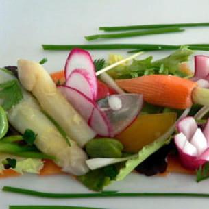 tartelette fine de petits légumes croquants