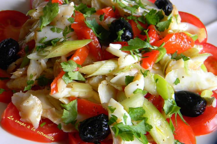 Salade catalane à la morue (Esqueixada)