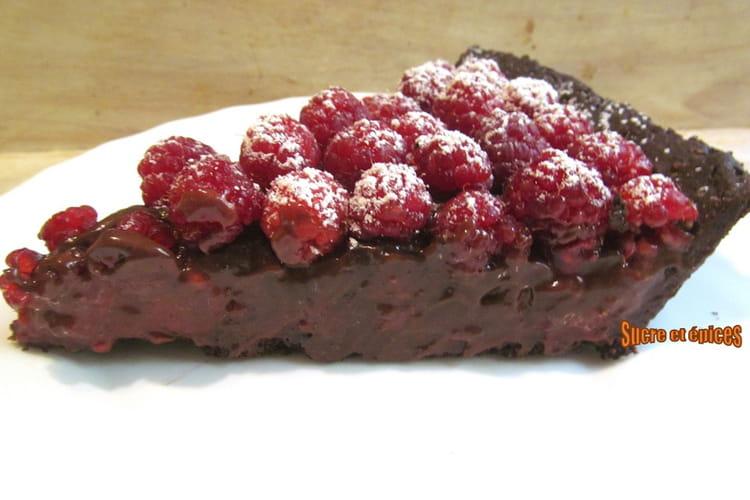 Tarte chocolat aux framboises