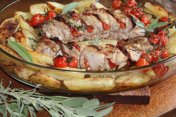Filets de porc au chorizo et beurre de sauge