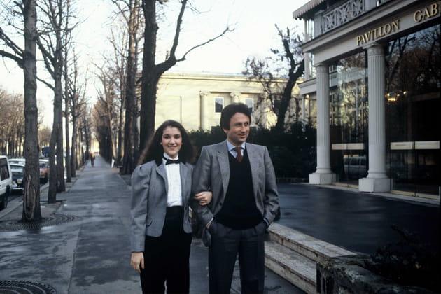 Au bras de Michel Drucker en 1983