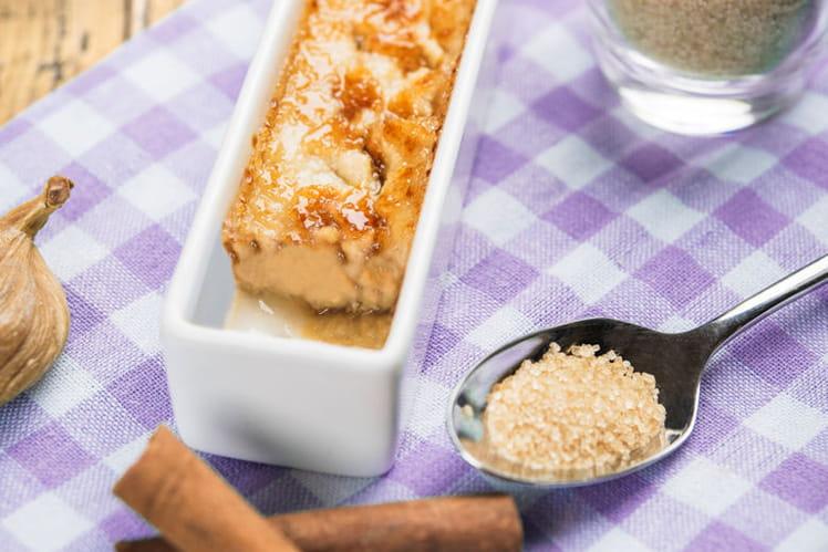 Crème brûlée Pommes Figues, sucre craquant à la cannelle