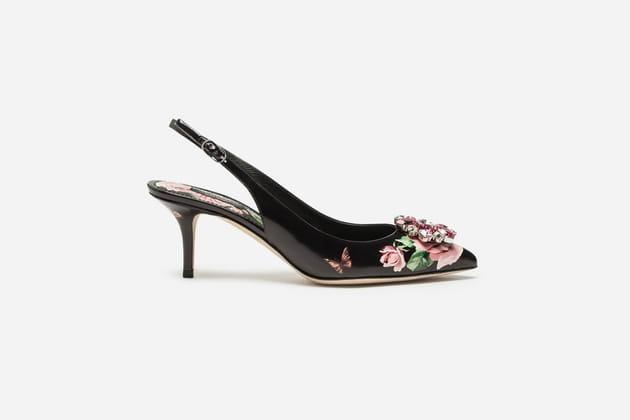 Escarpins fleuris de Dolce & Gabbana
