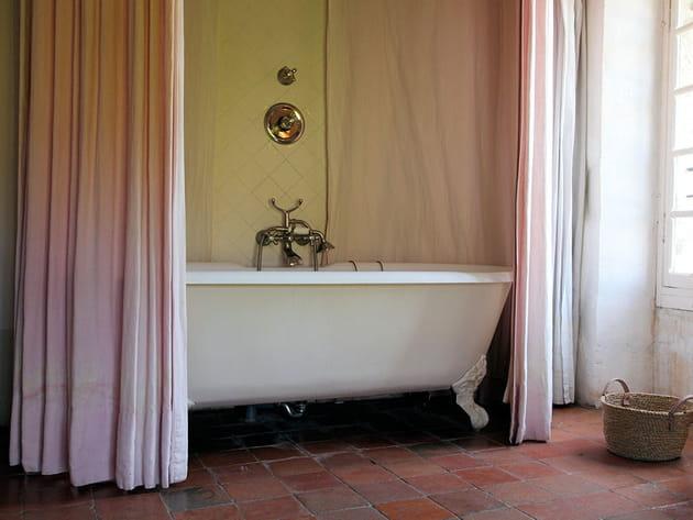 Ciel de bain rose pastel