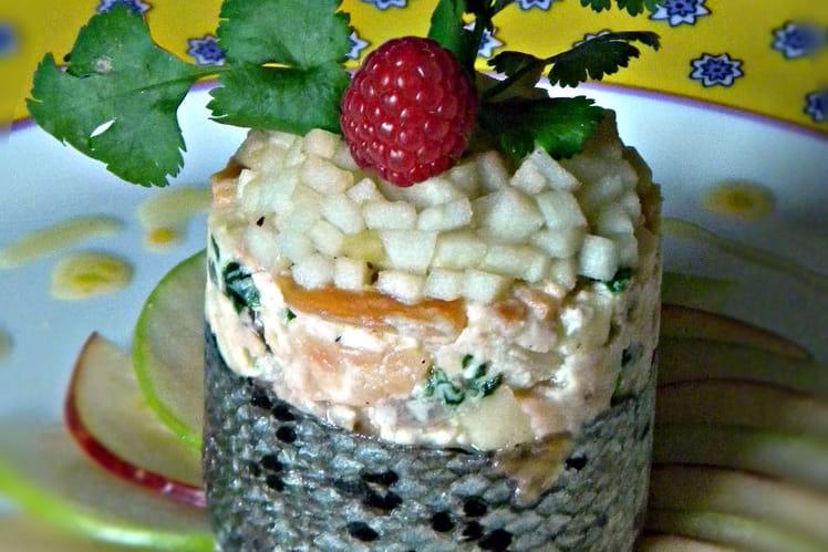 Tartare de saumon aux pommes
