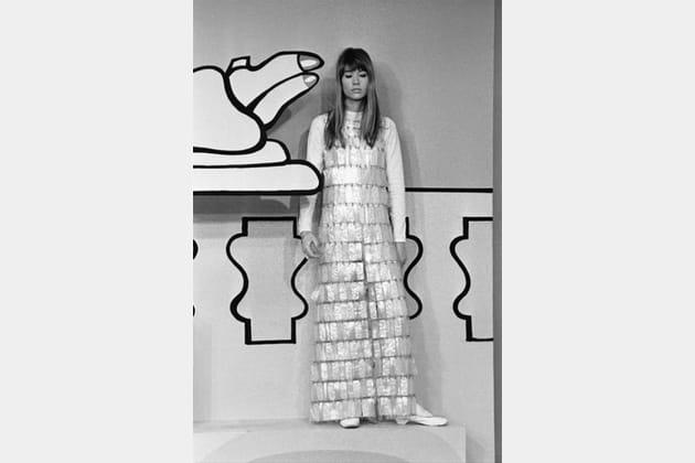 fran u00e7oise hardy en robe futuriste de paco rabanne