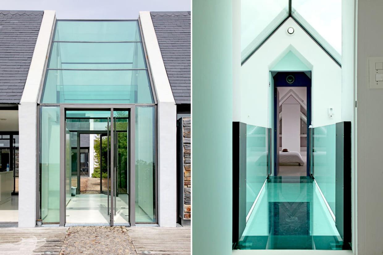 Une passerelle en verre Architecture en verre
