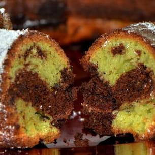 marbré chocolat et pistache