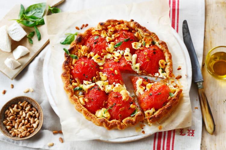Tarte feuilletée chèvre tomate