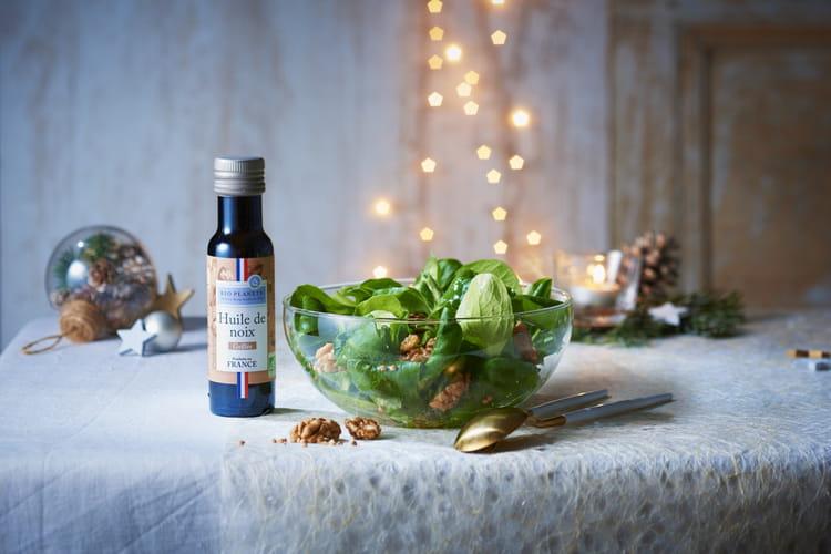 Salade de mâche à l'huile de noix grillée par Bio Planète