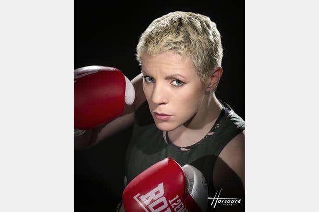 La boxeuse championne du monde Maiva Hamadouche
