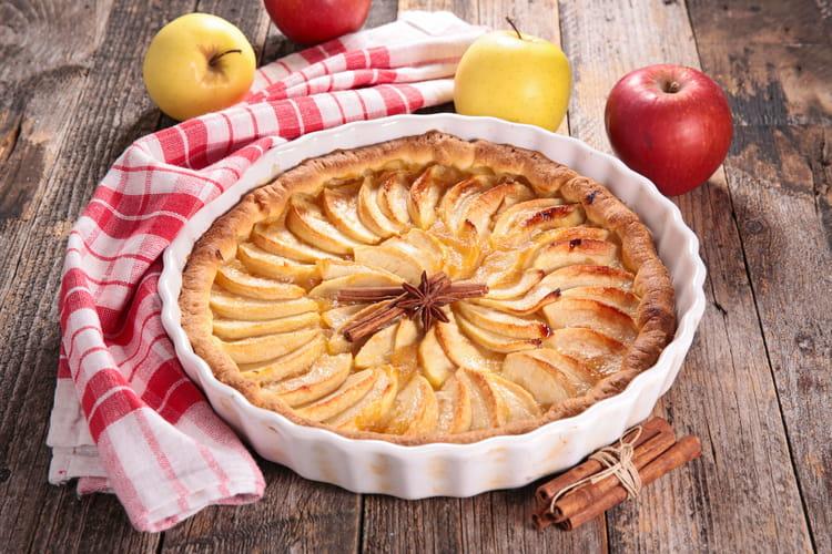 Recette tarte aux pommes facile - Tarte soleil aux pommes ...