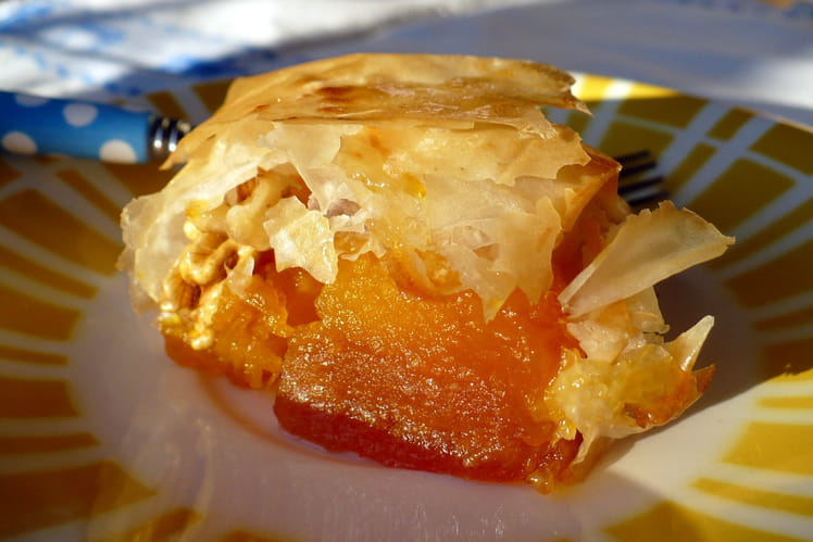 Croustillants de potiron aux abricots secs