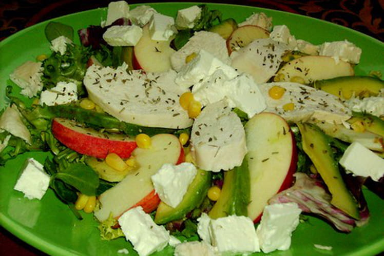 Salade cheese and apple (fromage et pomme)