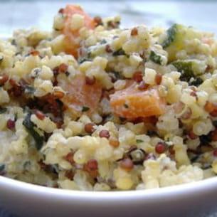 quinoa crémeux à la ricotta, comme un risotto