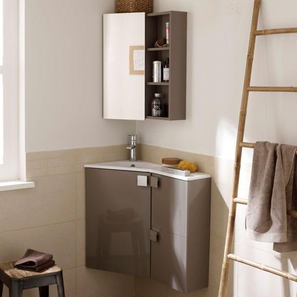 Meuble corner leroy merlin - Meuble d angle pour salle de bain ...