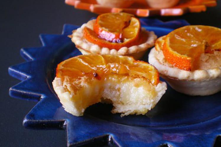 Mini tartelettes à la crème de clémentines