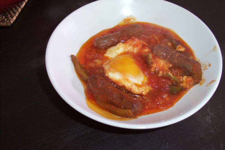 Recette ojja merguez la recette facile - Cuisine tunisienne traditionnelle four ...