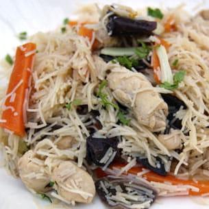 poulet bò bún à la vietnamienne