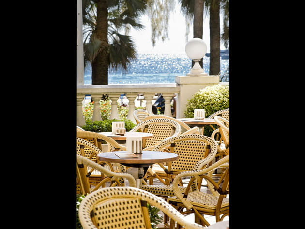 La terrasse de L'InterContinental Carlton Cannes