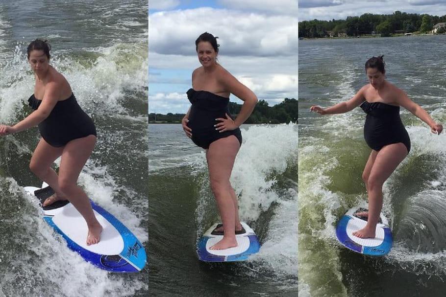 VIDEO : enceinte de 9 mois, elle surfe en attendant bébé