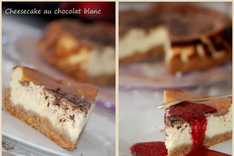 Cheesecake au chocolat blanc, Mc Vitie's et copeaux