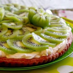 tarte fine et light aux kiwis