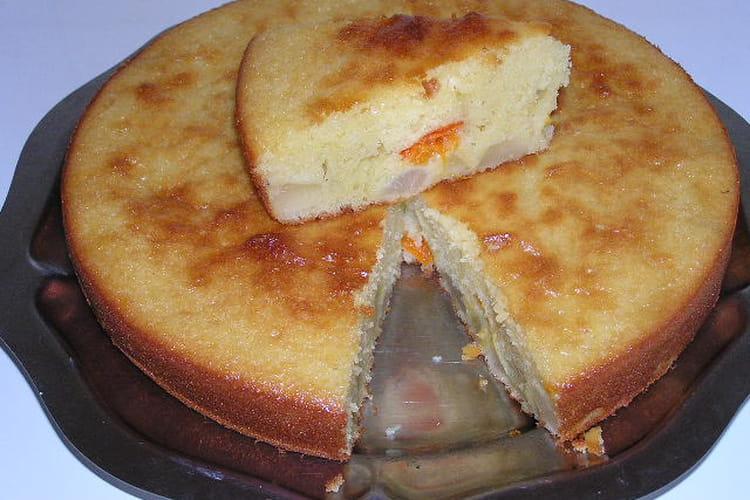 Gâteau poire et abricot