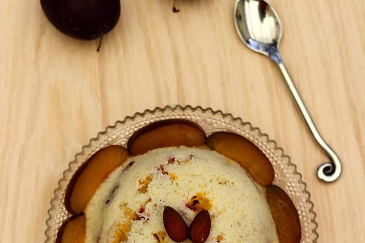 Bowl cake de semoule aux prunes et amandes