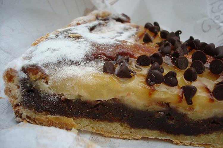 Tarte poire et chocolat noir