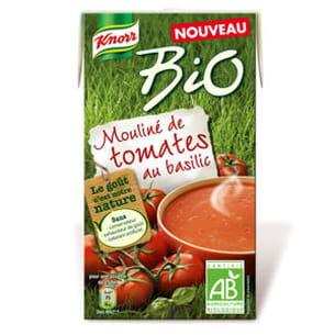 mouliné bio de tomates au basilic