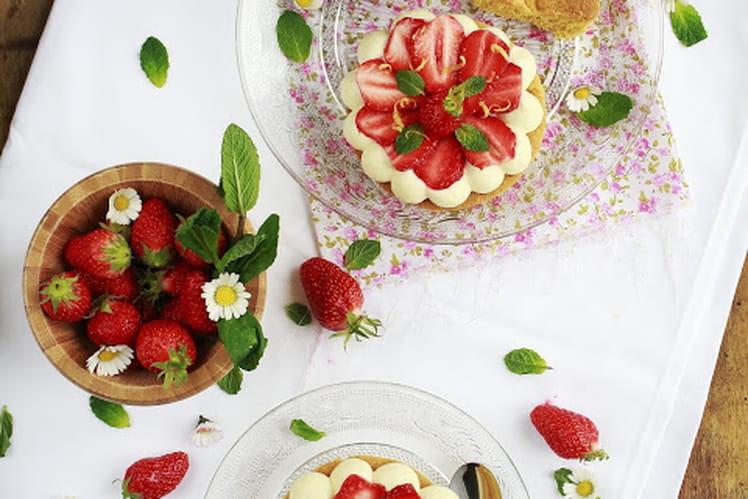 Tartelettes aux fraises et sablé breton au petit épeautre
