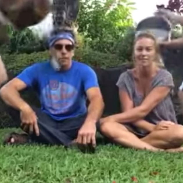 Ben Stiller Christine Taylor Ice Bucket